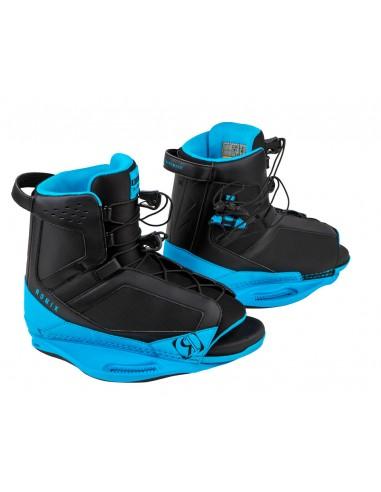 Botas Wakeboard Ronix District Boot - Black / Azure Blue 2018