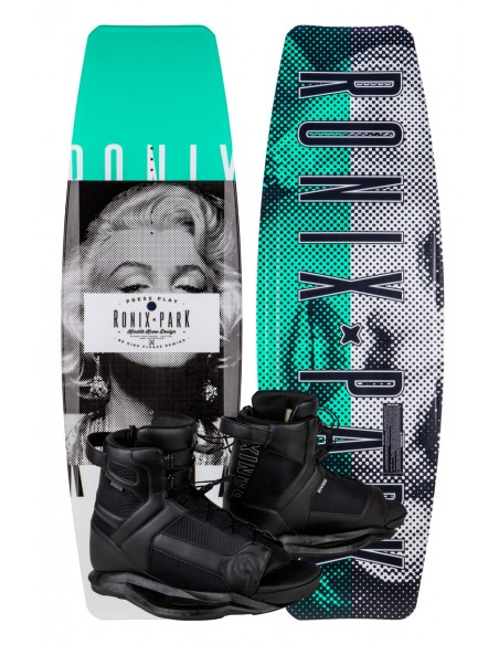 """Ronix Press Play - ATR """"S"""" + Divide boots Cable Wakeboard Package"""